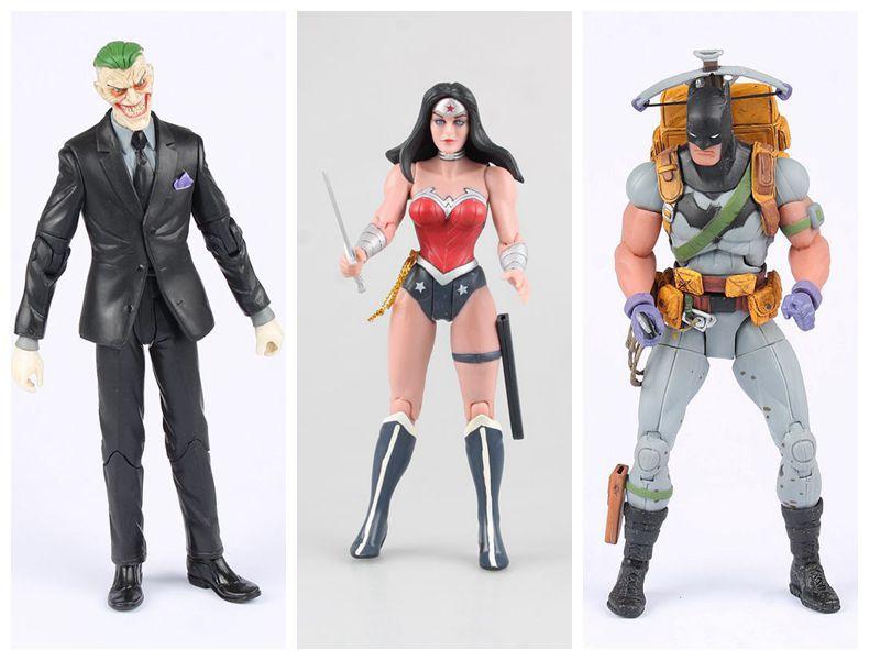 Kids Toys Action Figure: 17cm Batman Joker Wonder Woman Action Figure PVC Kids Gift