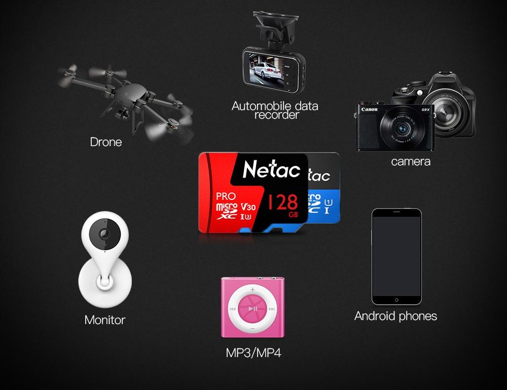 Netac Class 10 32GB 64GB 256 GB Micro SD Card 16GB 128GB 32 64 GB TF Card Data Storage Flash Memory Card For Smartphone Phone 6