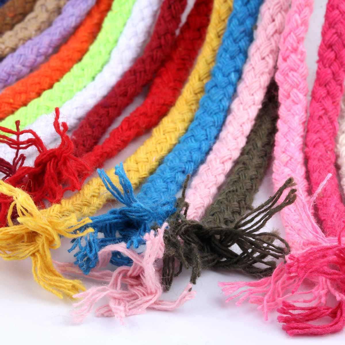 Cor 100 M 5 11mm 109 Metros de Corda de Algodão Trançado Macrame Cord DIY Handmade Artesanato Tecido Fio Trançado de Corda home Textile Decor
