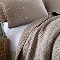 100% хлопок одеяло, наволочки, комплект постельных принадлежностей, двуспальная кровать, коричневый пододеяльник, кровать линии, плоский лист покрывало пэчворк kotatsu
