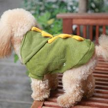 Lovely Coat Jacket Pet Dogs Puppy Cat Dinosaur Pretty Hoodie Dress Up Clothes