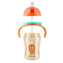 Baby Feeding Water Bottles Infant Cute Drinking Cup BPA Free Training Handle Bottle For Kid