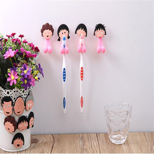 New Multifunctional Popular Cute Cartoon Sucker Toothbrush Holder Wall Suction Hooks Bathroom Set Accessories Eco-Friendly