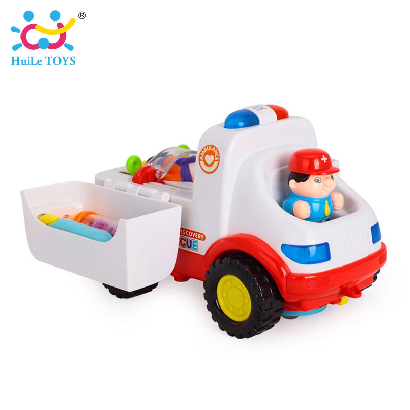 2-in-1-Ambulance-Doctor-Vehicle-Set-Baby-Toys-Pretend-Doctor-Set-and-Medical-Kit-Inside-Bump-and-Go-Toy-Car-with-Lights-Sounds-2