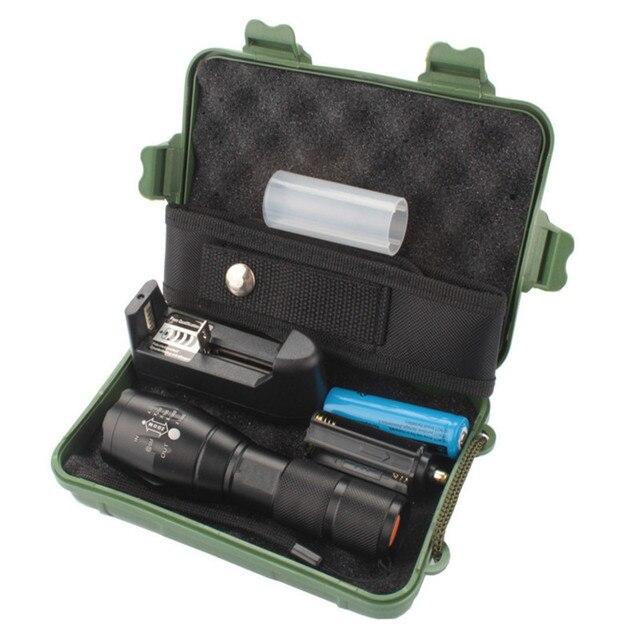 Ultrafire Portable 5000 Lumens XML T6 Zoom Spotlight LED Flashlight Torch Hunting Tactical Flashlight 5 Mode 18650 Flashlight Fl