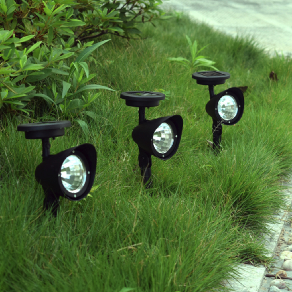 Waterproof Solar Lights Outdoor 2-in-1 Adjustable Solar Spotlight Wall Light Auto On/Off Solar-powered Landscape Lighting