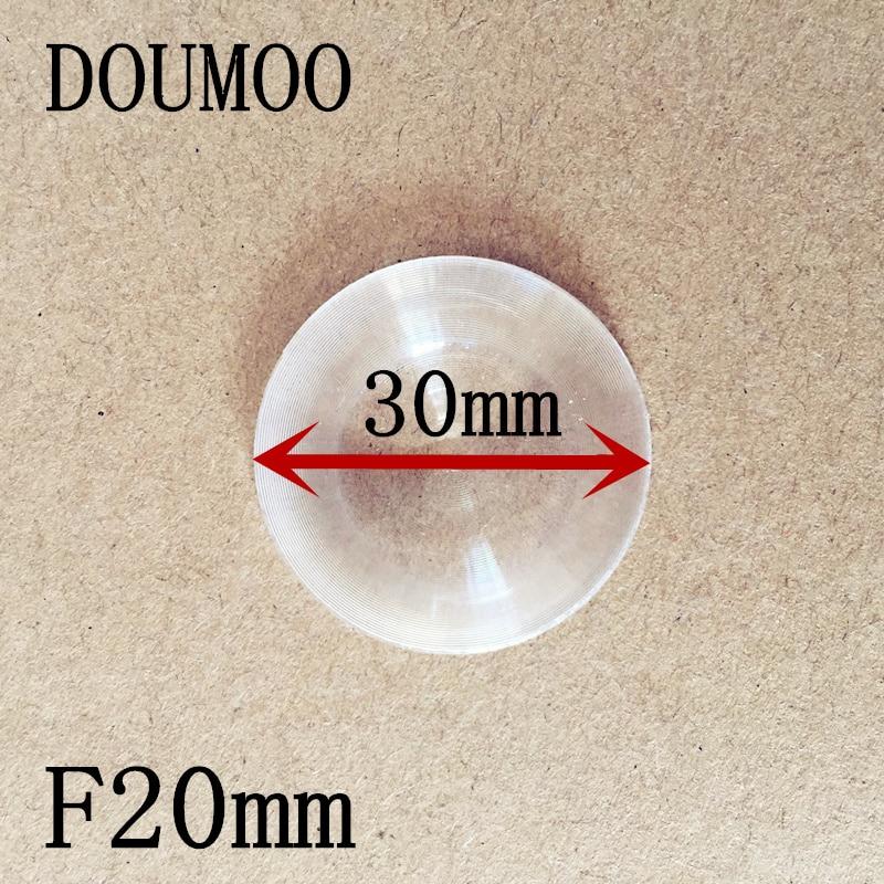 Óptica para Lente Fresnel Lente Diâmetro Distância Focal 20 Tamanho Menor Diy 30 mm