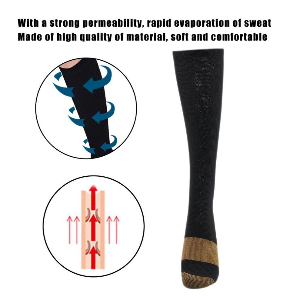 Miracle Copper Compression Socks Unisex Anti-fatigue Compression Socks Foot Pain Relief Soft Magic Socks Men Women Leg Support Men's Socks