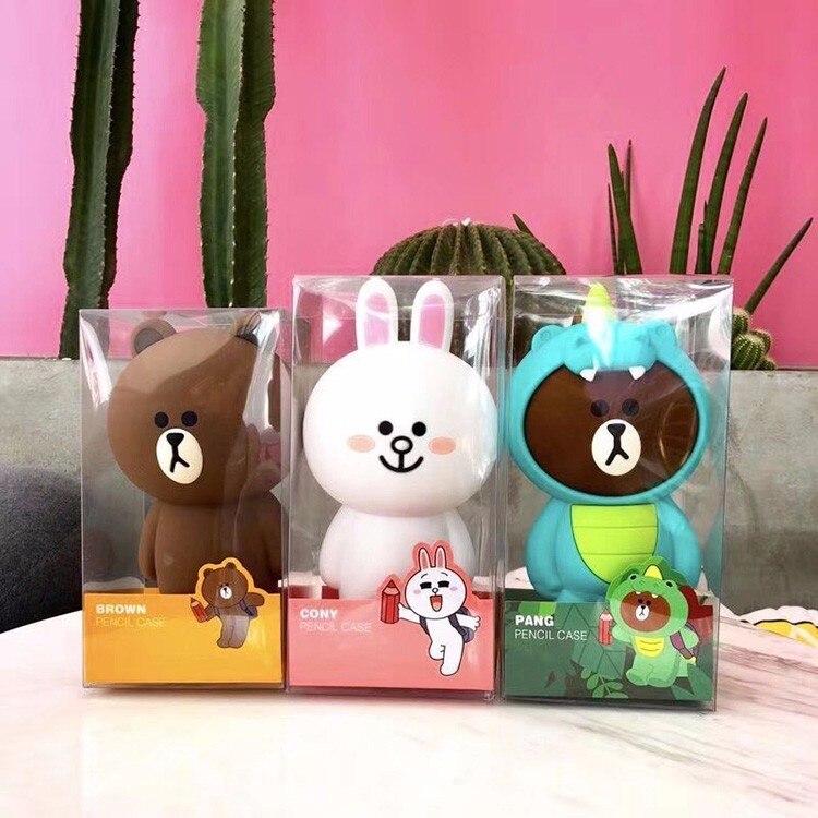 3D Cartoon Cute Pencil Case Bag Silica Gel Kawaii Korean Brown Bear Bunny Cony Pencilcase Gift For Girl Boy Kids School Supplies-in Pencil Cases from Office  School Supplies on Aliexpresscom  Alibaba Group
