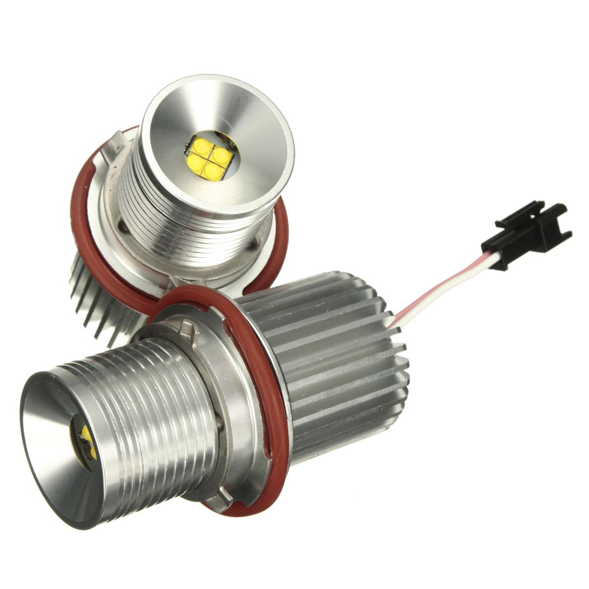 1Pair 40W Car LED Angel Eyes Marker Halo RING Light Lamp H8 Bulb For BMW E39 E60 E61 E65 E66 E83 E87 63126904048