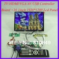 TV/HDMI/VGA/AV/USB/AUDIO LCD driver Board+10.1inch B101UAN01/2 1920*1200 IPS LCD