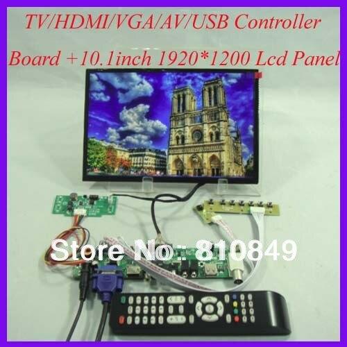 TV/HDMI/VGA/AV/USB/AUDIO LCD driver Board+10.1inch B101UAN01/2 1920*1200 IPS LCD