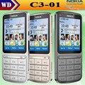 Оригинал Nokia C3-01 сенсорный и 5MP wi-fi FM радио сенсорный сотовый телефон отремонтированы