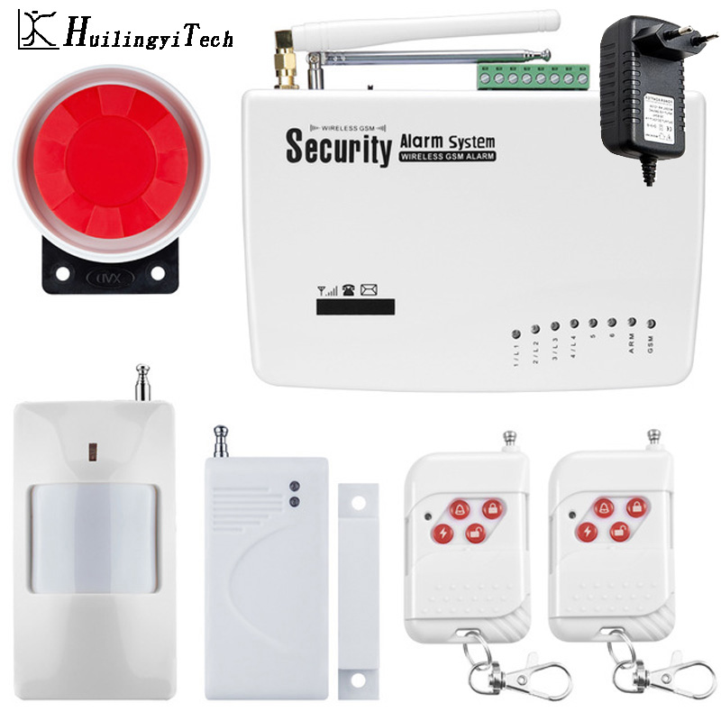 Free Shipping GSM Alarm System For Home Security System with Wireless PIR/Door Sensor Dual Antenna Smart Burglar Alarm System 560pcs dupont connector jumper wire cable pin header pin housing and male female pin head terminal adapter plug set