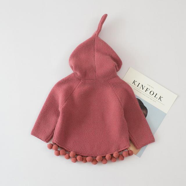 Lil Riding Hoods Pom Sweater