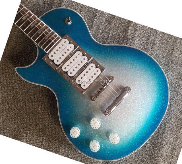 2018 Free Shipping left-hand LP Custom Electric Guitar 3 Pickups signature inlay lp custom guitar 1