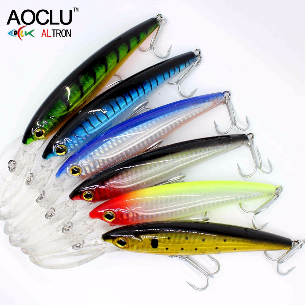 Купить с кэшбэком 2020 AOCLU NEW LURE wobblers  120mm 32g Hard Bait Minnow Crank fishing lure saltwater Bass Fresh VMC hooks 6 colors tackle