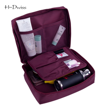 HDWISS Cosmetic Bag Women Travel Make up Toiletry Bag Necessaries Makeup Organizer Case Men Wash Bag