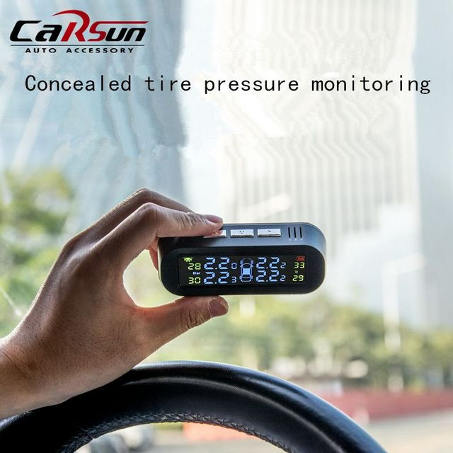 CARSUN TPMS Sensor Solar Car Tire Pressure Monitoring System External/Internal TPMS Systems Tire Pressure Monitoring System
