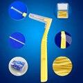 5 шт./компл. L Форма для чистки межзубных пространств, двухтактный Уход за полостью рта и зубов очистки Зубная щётка для отбеливания зубов Уход за полостью рта зубочистка - фото