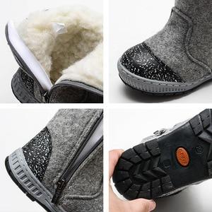 Image 5 - MMNUN צמר הרגיש מגפי חורף נעלי בני חם ילדי חורף נעלי ילדים קטנים שלג מגפי ילד נעלי חורף גודל 23 32 ML9425