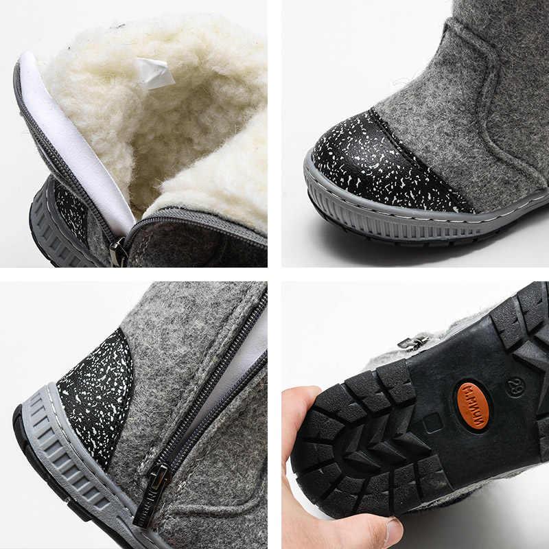 (Отправить от России) Mmnun валенки шерсть валенки детская обувь детская обувь зима валенки детские зимняя обувь для мальчиков ботинки детская зимняя обувь сапоги детские валенки ботинки детские обувь детская 23-32