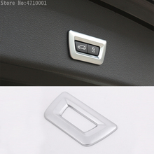 Car-Styling ABS Chrome Tail Door Switch Button Cover Trim Sticker For BMW X1 f48 X3 f25 X4 f26 X5 f15 X6 f16 f30 GT 3 5 7 Series 3d abs chrome abs number letters word car trunk badge emblem letter decal sticker for bmw 3 series gt 5 series gt x1 x3 x5 x6 z4