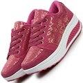 Дамы тренеры легкие платформы tenis обувь мода дышащая повседневная обувь женская женский похудения качели женщины повседневная обувь 19u9