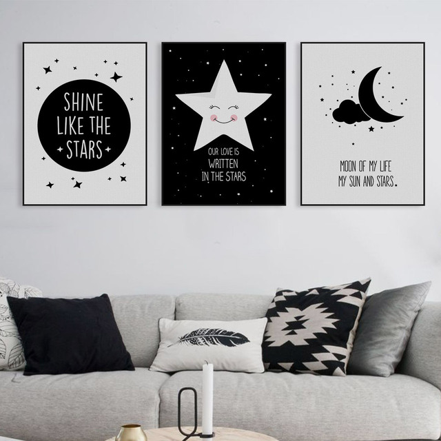 Star Wall Art aliexpress : buy nordic motivational quotes a4 poster print