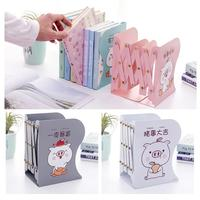 Metal Iron Hollow Decorative Adjustable Bookends Book Ends Shelf Holder Stand Student School Office Desk Accessories