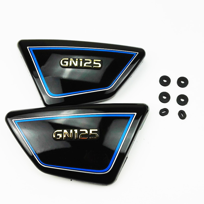 1Pair Right & Left Frame Side Covers Panels for suzuki GN 125 GN125 Black or Red ned davis being right or making money