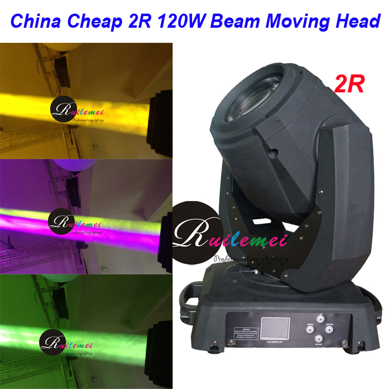 Flight Case+2Sets 120W Stage Lighting Beam 2R Moving Head DJ Spotlights Wash DMX Laser Disco Lampen Theatre Light, Free Shipping laser head owx8060 owy8075 onp8170