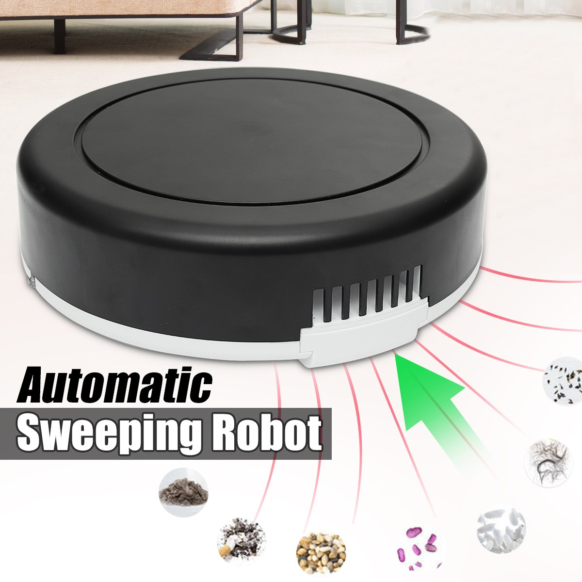 Automatic Sweeping Robot Slim Sweep Suction Drag One Machine Small Mini Rechargeable Vacuum Cleaner Sweeping v bot gvr610d intelligent sweeping robot vacuum cleaner home sweep suction automatic wifi wireless one machine