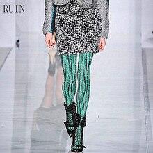 RUIN women's tights Wild green serpentine pantyhose female girl tights 140D