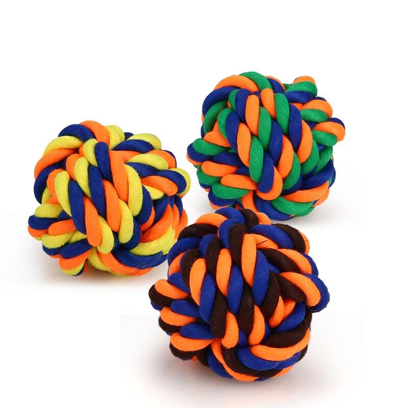 1 шт., устойчивые к укусам жевательные Игрушки для маленьких собак, чистящие зубы, веревка для щенка, шарик с узлом, игрушка, игра в животных, игрушки для домашних животных-4