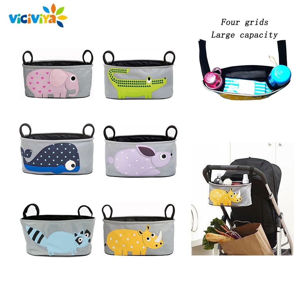 Cartoon Baby Stroller Organizer Bag For Stroller Accessories Baby Pushchair Stroller Bag For Pram Organizer Travel Bags For Yoya