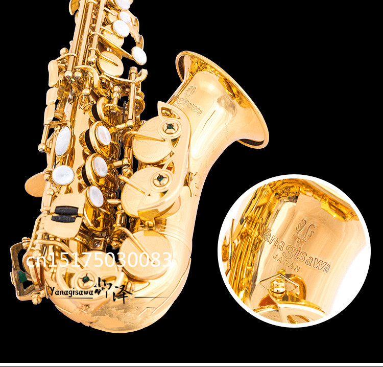 YANAGISAWA W010 B flat Soprano saxophone High Quality musical instruments YANAGISAWA Soprano Sax With case and