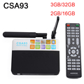 S912 Amlogic Android 6.0 Smart TV Box 3 ГБ/32 ГБ и 2 ГБ/16 ГБ CSA932.4G/5.8 Г Двойной Wi-Fi H.265 BT4.0 4 К Streaming Media Player