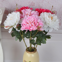 Artificial Silk Flower Peony Bouquet for Wedding Table Accessory Home Decoration Christmas Decorative Fake