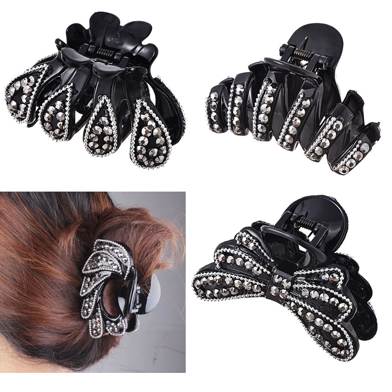 Crab Full Rhinestone Trendy Hair Claws Hairpin Hair Accessories