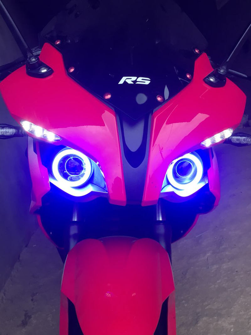12V Car Angel Eyes With Lampshades 60mm 70mm 80mm 90mm 100mm Led Halo Ring Lights Led Angel Eyes Headlight for Auto Moto Motorcy