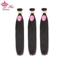 Queen hair индийские прямые волосы плетение 3 шт. пучки сделки 100% пряди человеческих волос для наращивания волосы remy двойной уток натуральный цв...