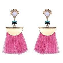 HOCOLE Women Brand Boho Drop Dangle Fringe Earring Vintage ethnic Statement tassel earrings fashion jewelry 4 Colors