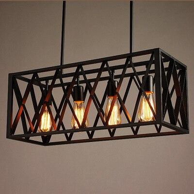 Black Vintage Industrial Pendant Light Loft Style Lights Nordic Retro Lamps Spider 4/6 Heads Edison Dining Room Lamp ZBD0143