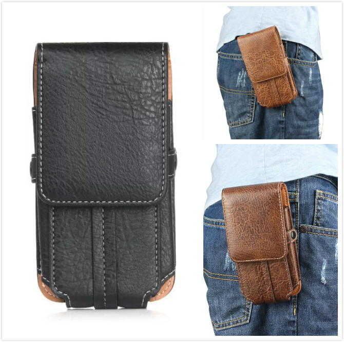 Waist belt pouch leather