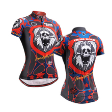 Life on Track New SportsWear Women's Cycling Jersey Skulls Partten Cycling Clothing Bike Shirt Size S-2XL