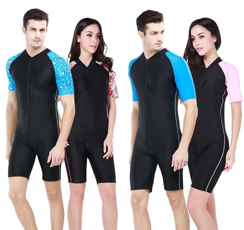 Mens lycra rash guard full body swimsuit for women swim ...