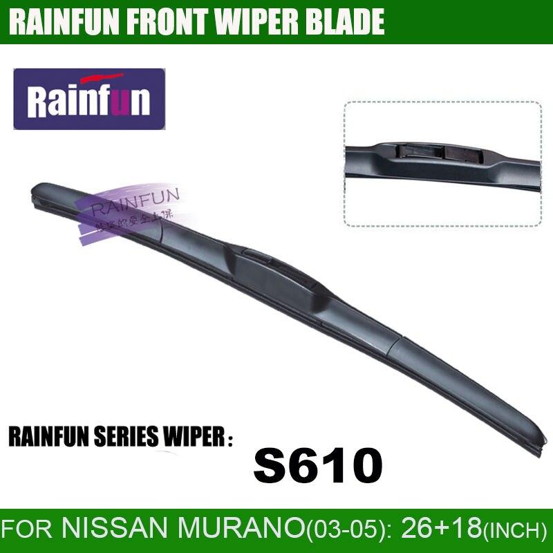 RAINFUN специальный автомобиль стеклоочистителя для NISSAN Мурано(03-07), 26+ 18 дюймов автомобиль стеклоочистителя с высоким качеством резины, 2 шт. в партии