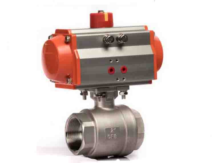 3/4  2 Pieces pneumatic operated stainless steel Ball Valve 1 inch 2 pieces pneumatic operated stainless steel ball valve