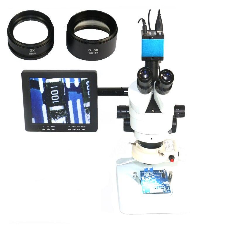 7X 45X 90X ipari Trinocular sztereo mikroszkóp + IR 16MP 1080P HDMI - Mérőműszerek - Fénykép 1